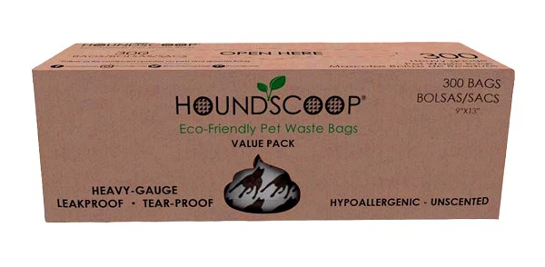 HOUNDSCOOP® 300 Count Pantry Pack Pet Waste Bags on Roll - Unscented