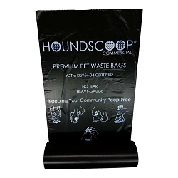 HOUNDSCOOP Case of 2000 Pet Waste Bags on Roll (10 Rolls Per Case)