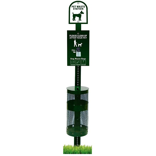 HOUNDSCOOP Pet Waste Management Header Station Kit